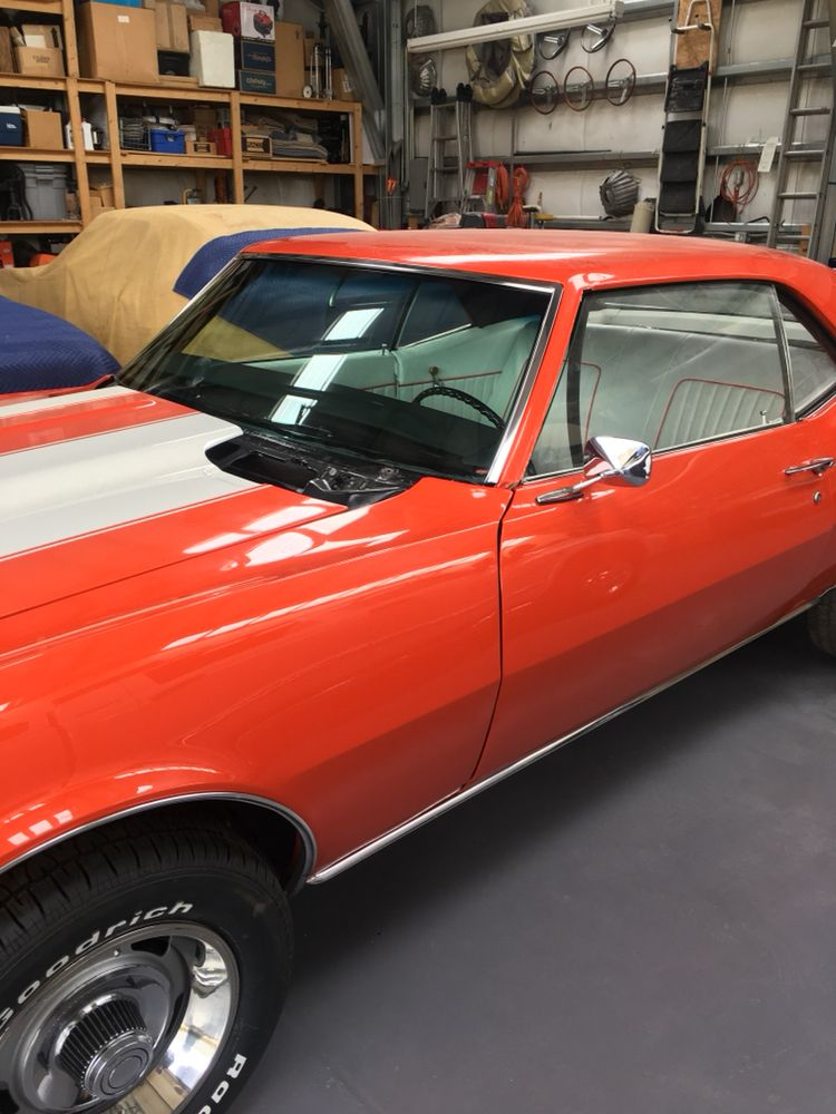 Ollie S Replaced The Windshield And Back Glass On This 1968 Chevy