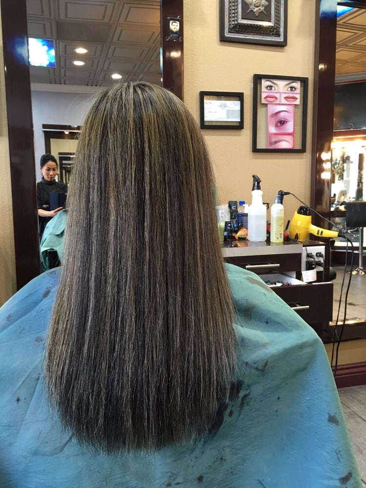 Photo Of Milan Hair Salon Westminster Ca United States Super Fine Highlights
