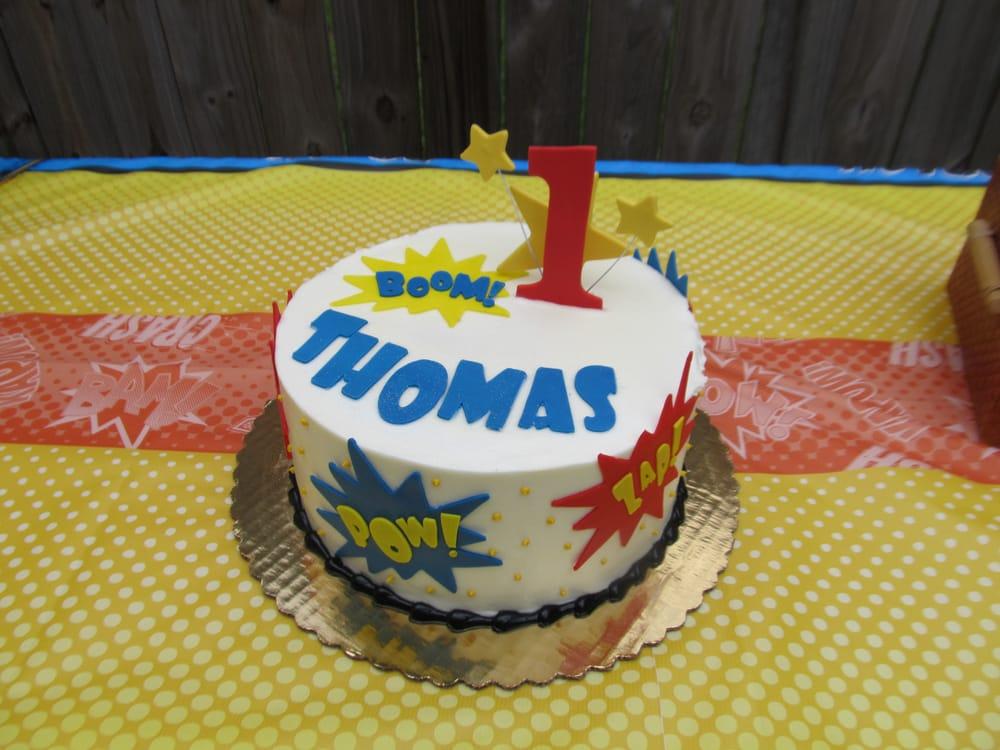 1st Birthday Superhero Cake By Jenny Vu Yelp