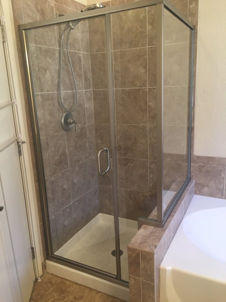 New shower! No need for a new bath mat whatsoever! Not ALL showers ...