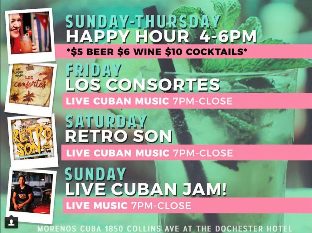 Moreno's Cuba: 1850 Collins Ave, Miami Beach, FL
