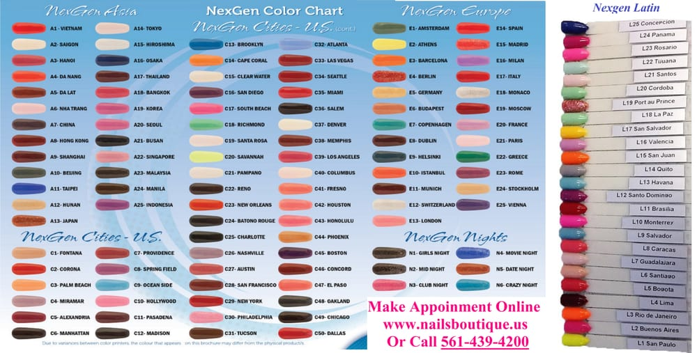 156 Colors Of Nexgen (Dipping Powder) - Yelp