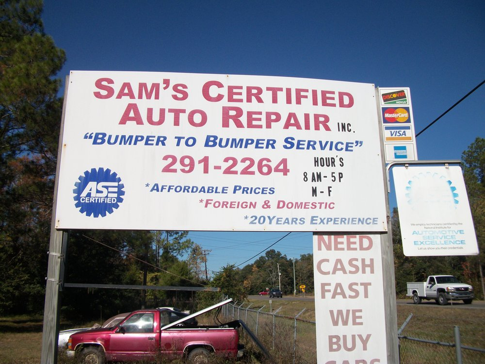 Sam's Certified Automotive: 3621 County Road 218, Middleburg, FL
