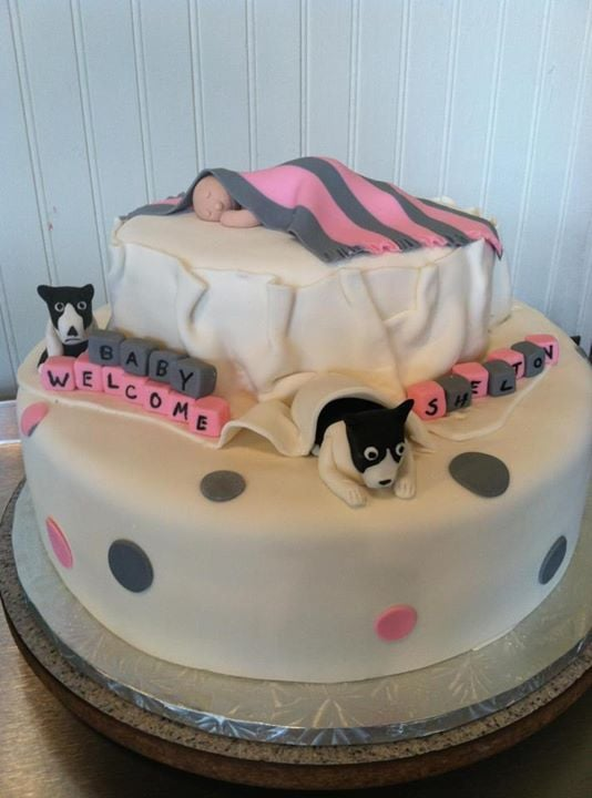 Boston Terriers Guarding Baby Bed Baby Shower Cake Yelp