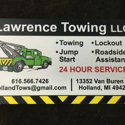 Lawrence towing towing 13352 van buren st holland mi phone photo of lawrence towing holland mi united states business card lawrence reheart Gallery