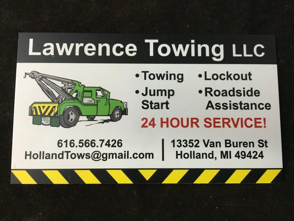 Lawrence Towing - Towing - 13352 Van Buren St, Holland, MI - Phone ...