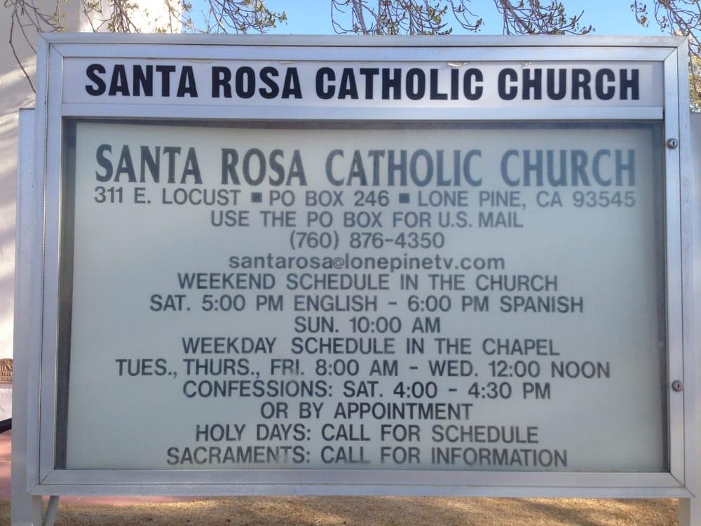 Santa Rosa Catholic Church Lone Pine: 311 E Locust, Lone Pine, CA