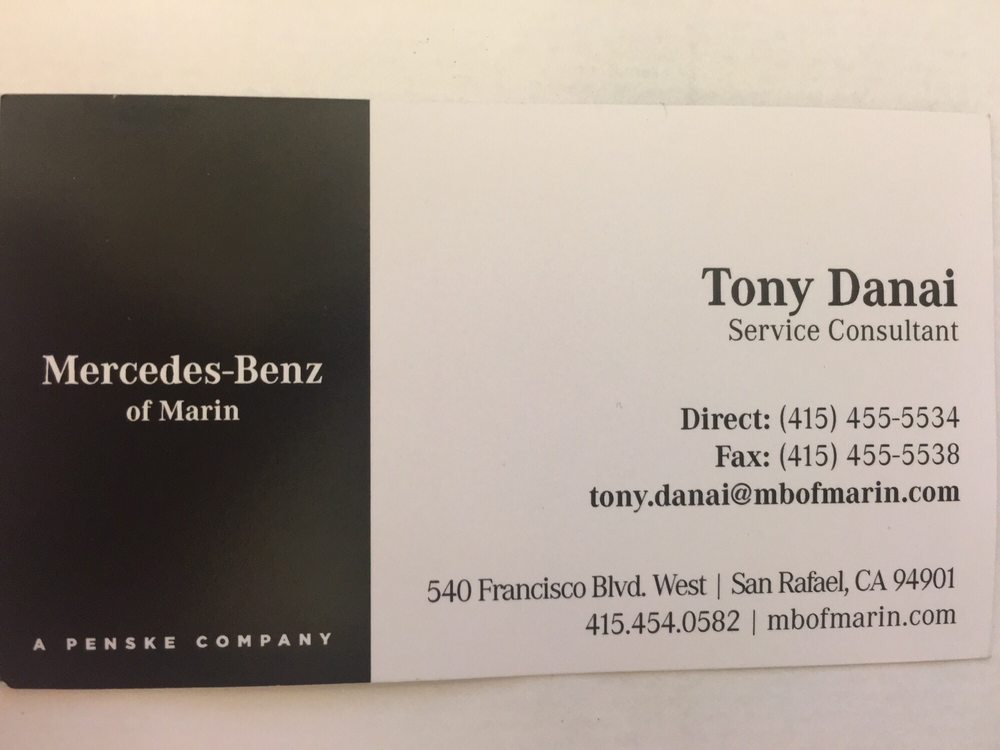 Recommend Mercedes-Benz of Marin, much better overall customer ...