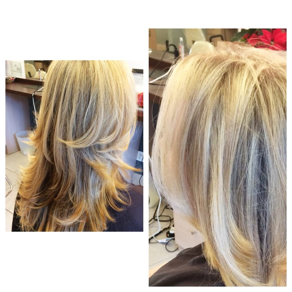 Full Foil Highlights For A Classic Blonde Yelp