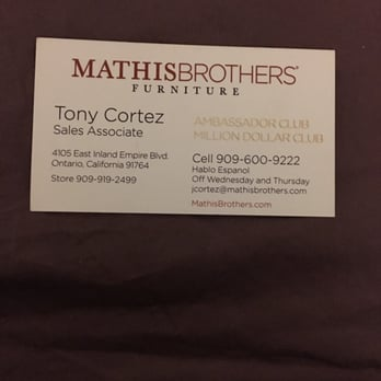 Mathis Brothers Furniture 176 s & 547 Reviews