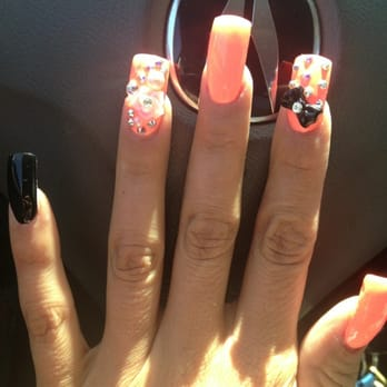 Photo of Blue Diamond Nails - Ontario, CA, United States. Done by Lee
