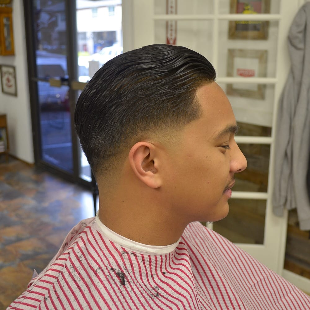 Styled Shear Haircut With A Low Bald Fade And Razor Lineup By Jordan