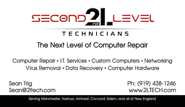 Second level technicians get quote it services computer repair photo of second level technicians manchester nh united states business card reheart Choice Image