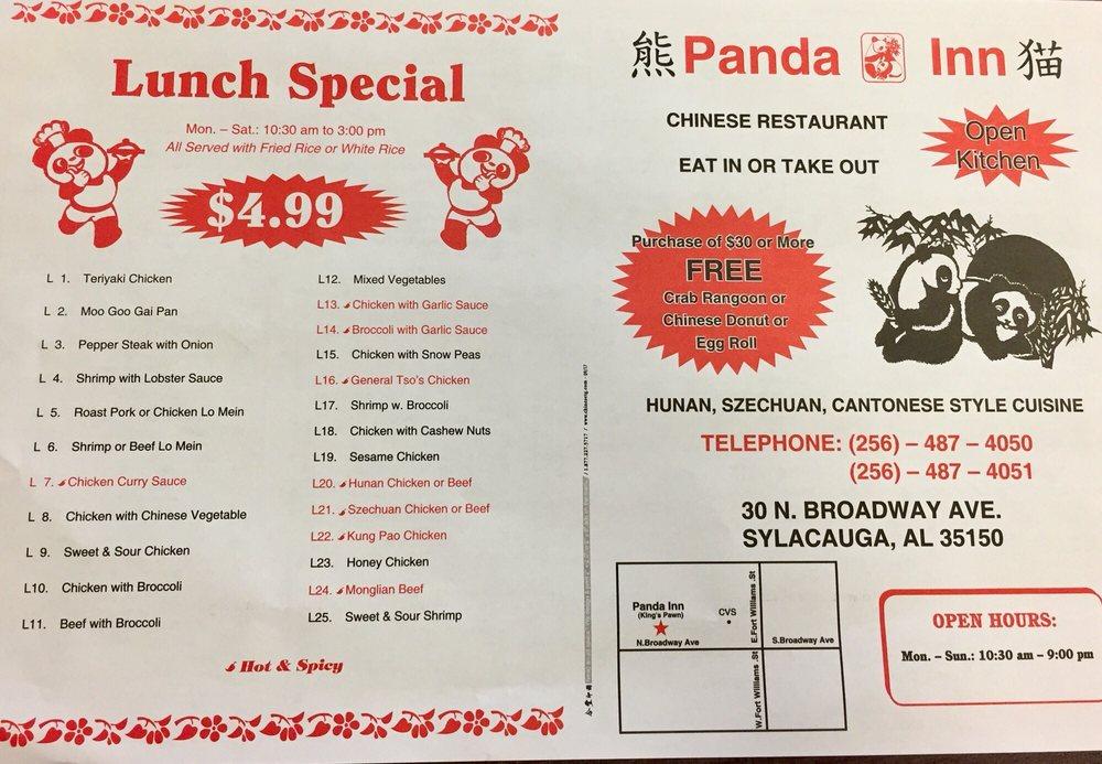 Panda Inn: 30 N Broadway Ave, Sylacauga, AL
