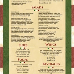 Vinny S Pizza Ellwood City Menu