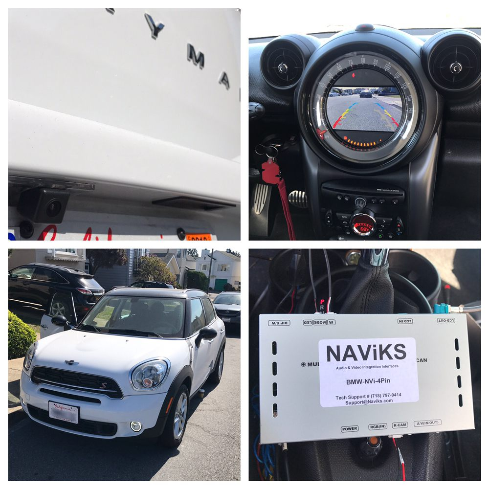 Backup Camera Install On A Customers 14 Mini Countryman With Wiring Installation Photo Of Oe Plus San Francisco Ca United States
