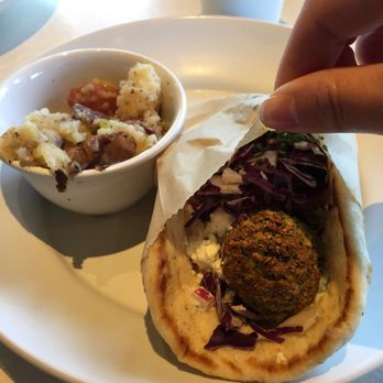photo of zoes kitchen tallahassee fl united states falafel pita with a - Zoes Kitchen Tallahassee