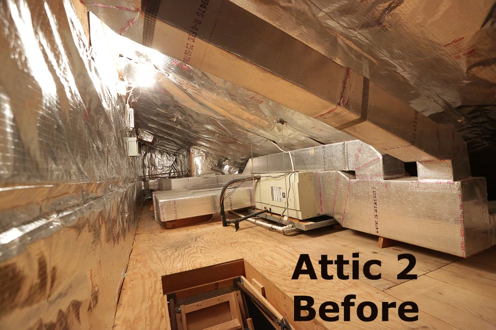 Attic 2 Before The Comfort Authority Installed New Ac