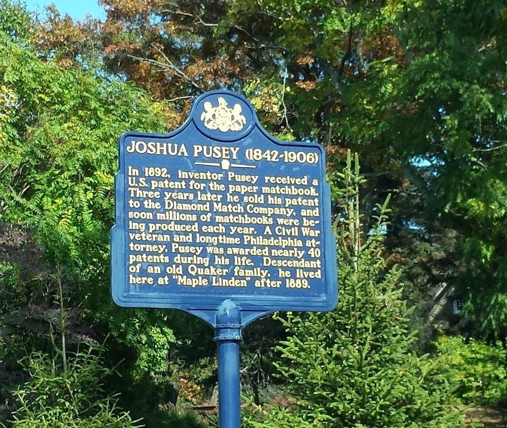 Joshua Pusey Historical Marker: 455-475 Middletown Rd, Media, PA