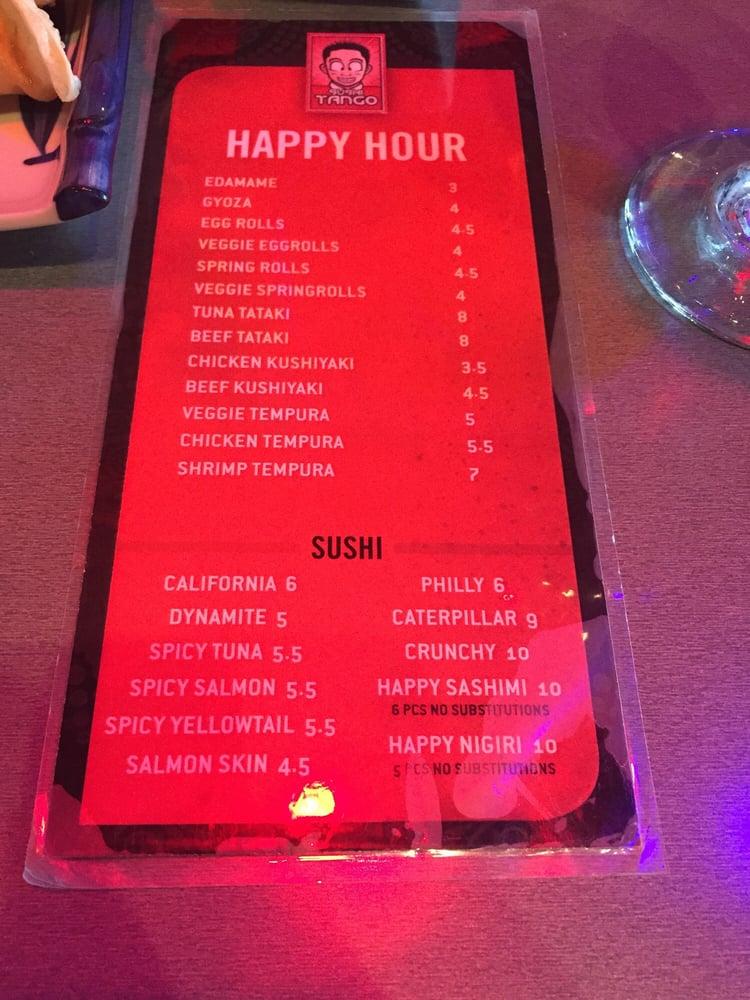 Happy Hour menu - Yelp