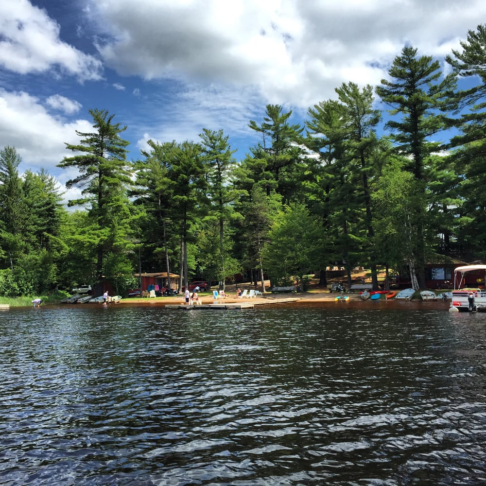 Holiday Acres Camping Resort: Holiday Acres Resort Beach On Lake Thompson, Rhinelander