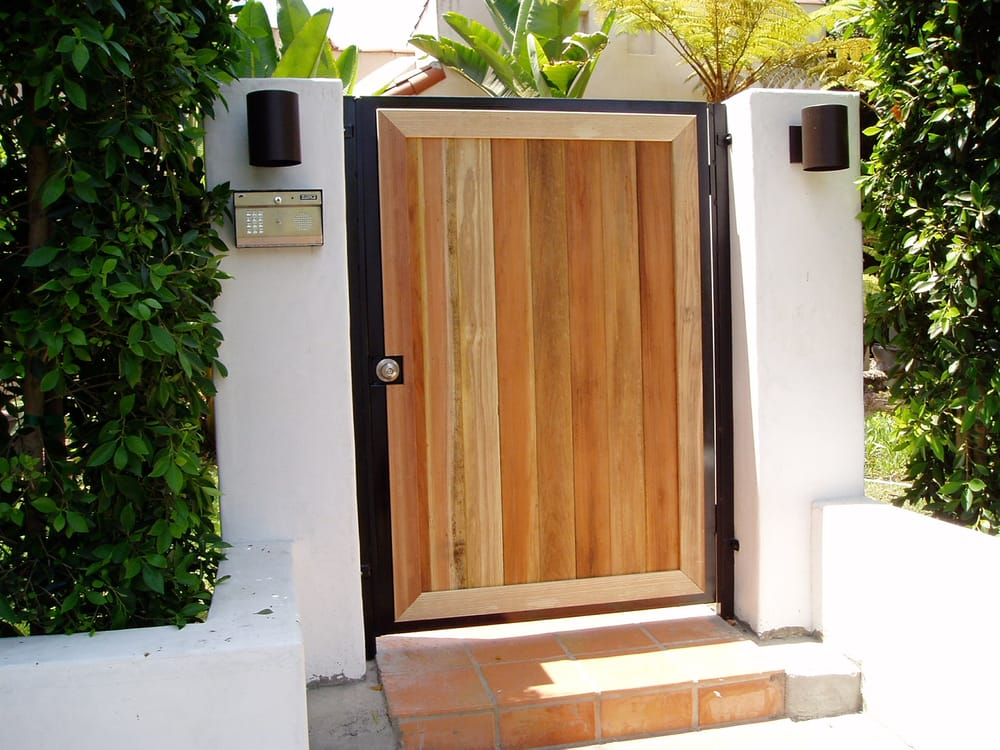 Matching pedestrian gate with telephone entry system yelp for Archway garage doors simi valley