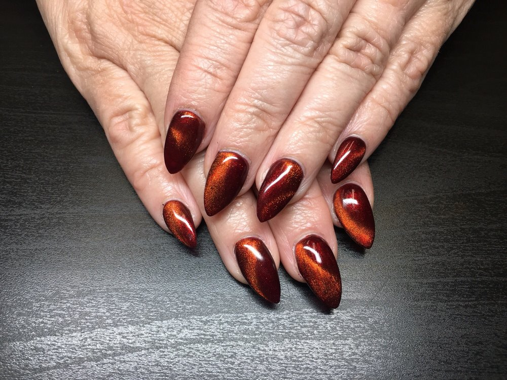 Fall Nails Designs With Wave Cat Eye Gel Yelp