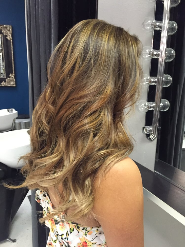 Partial Highlights With Soft Ombr Dark Natural Blond Hairbyyazmin