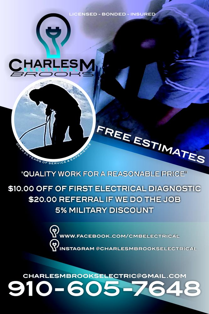 Charles M Brooks Electrical, LLC: 218 Nimocks St, Fayetteville, NC