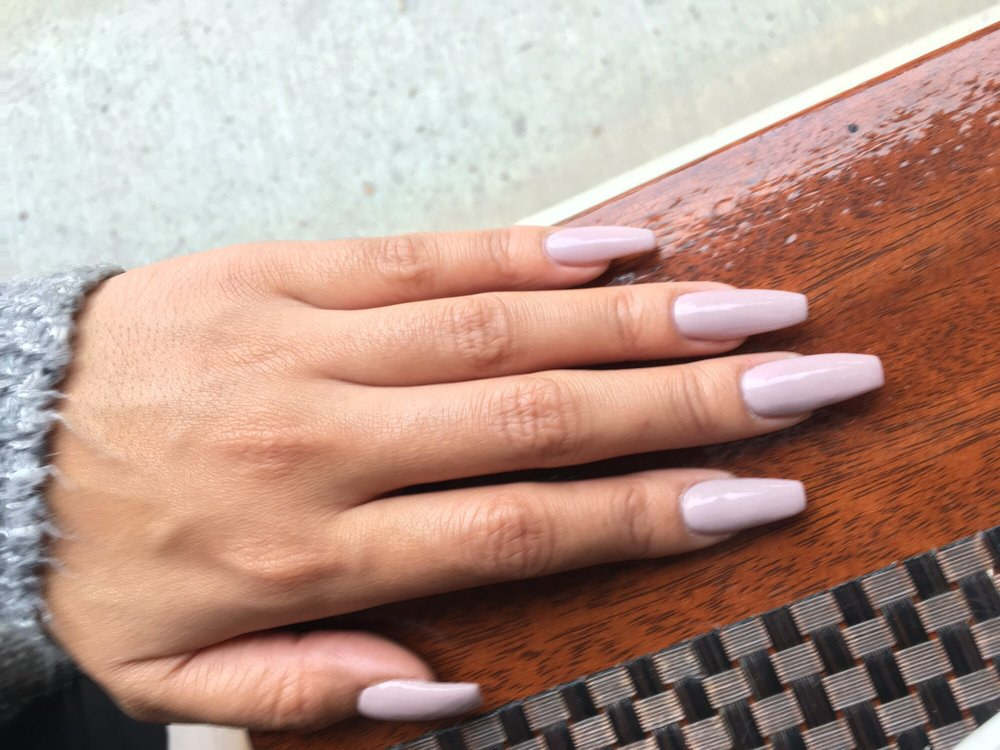Nails by Lily!! Coffin shape, acrylic gel nails full set color #371 ...