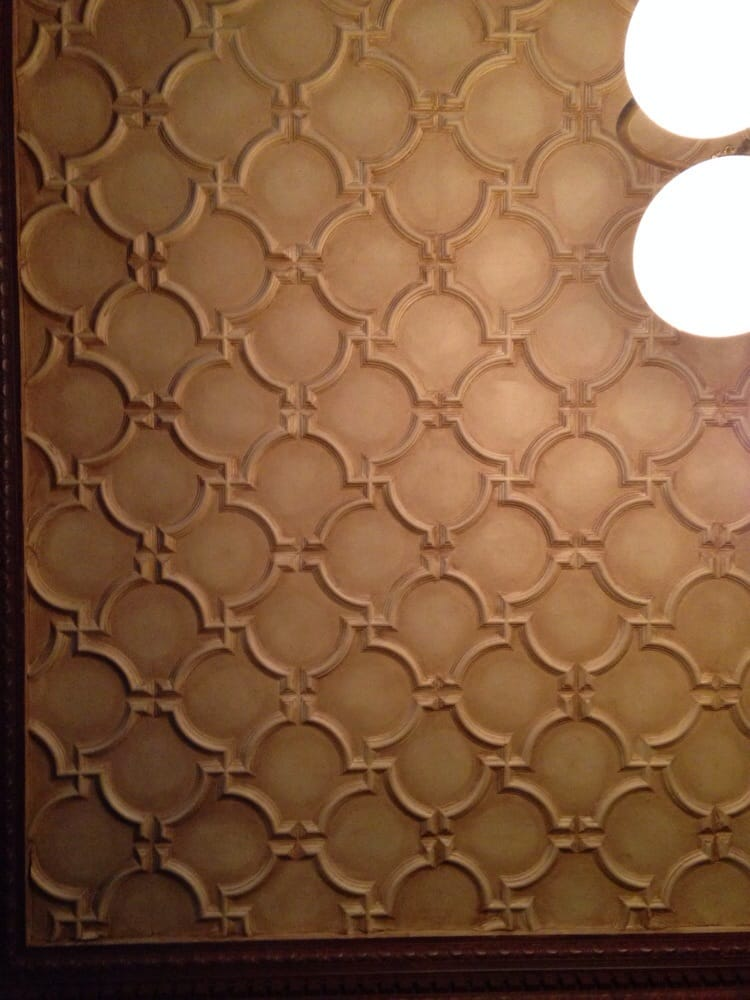 Trivia Question What Are These Ceiling Tiles Made Of Answer