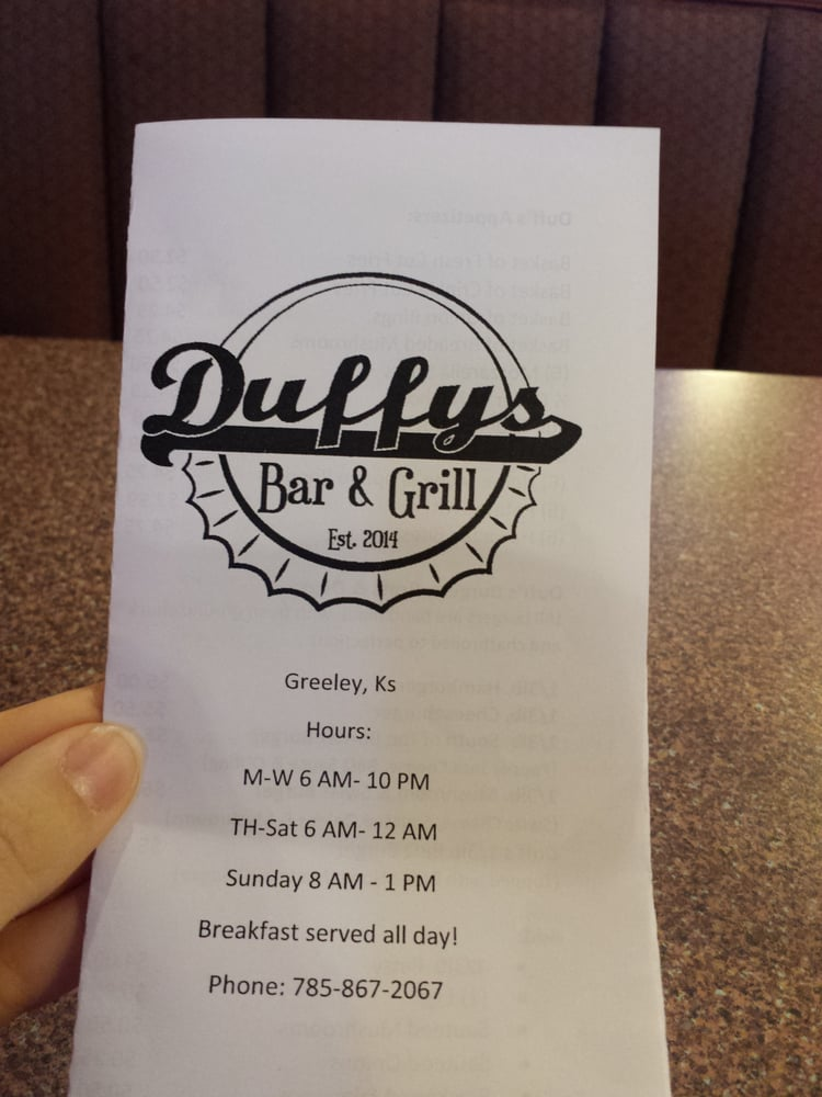 Greeley Cafe: 103 W Brown St, Greeley, KS
