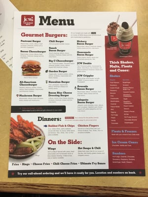 jcw burger coupons