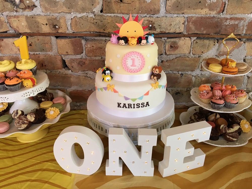 Disneys tsum tsum themed cake for daughters first birthday Yelp