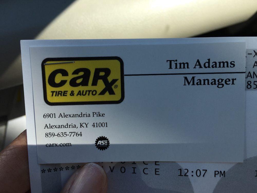 Car-X Tire & Auto: 6901 Alexandria Pike, Alexandria, KY