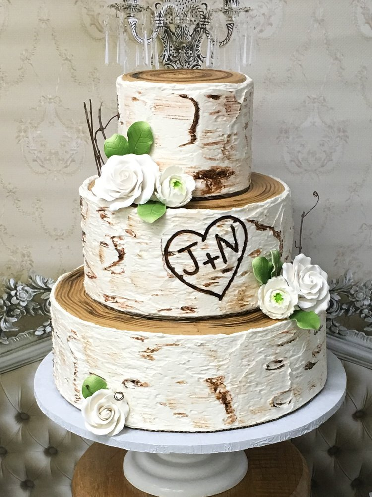 All Buttercream Birch Tree Wedding Cake True Cake Art Yelp