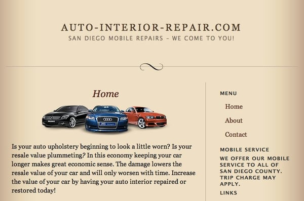 Photo For Auto Interior Repair
