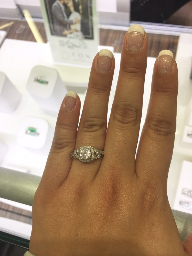 Needed nails to be perfect to show off my new engagement ring ...