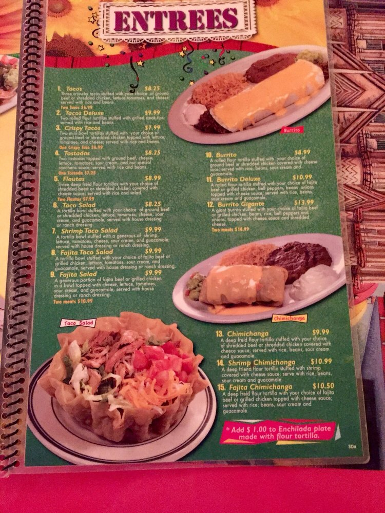 Food from San Luis Mexican Restaurant