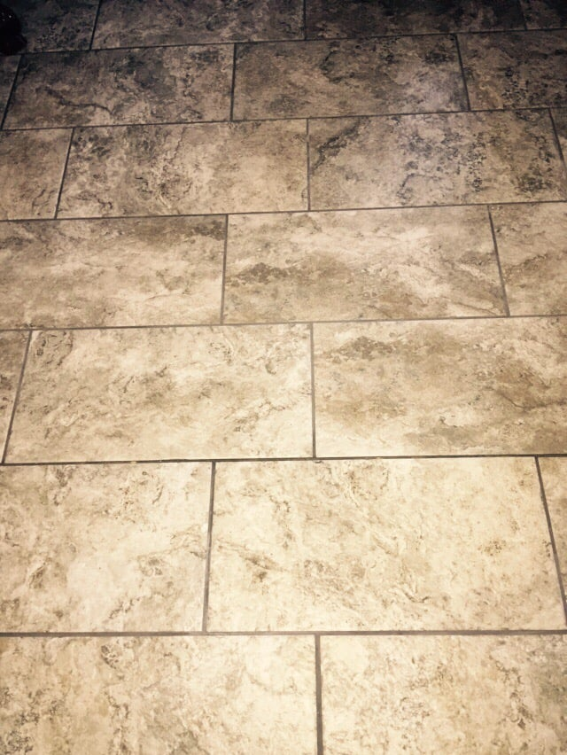 Stone Look Tile Supposedly Laid On Thirds Yelp