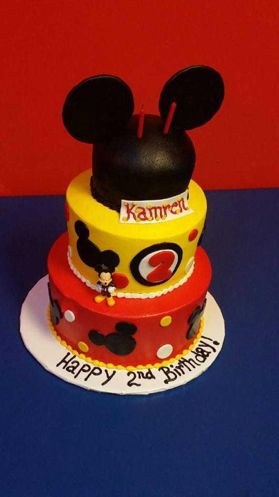 Mickey Mouse Theme 2nd Birthday 3 Tier Cake Yelp