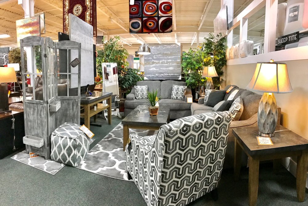 Photo Of Jb S Furniture Milwaukee Wi United States Grey Living Room Display