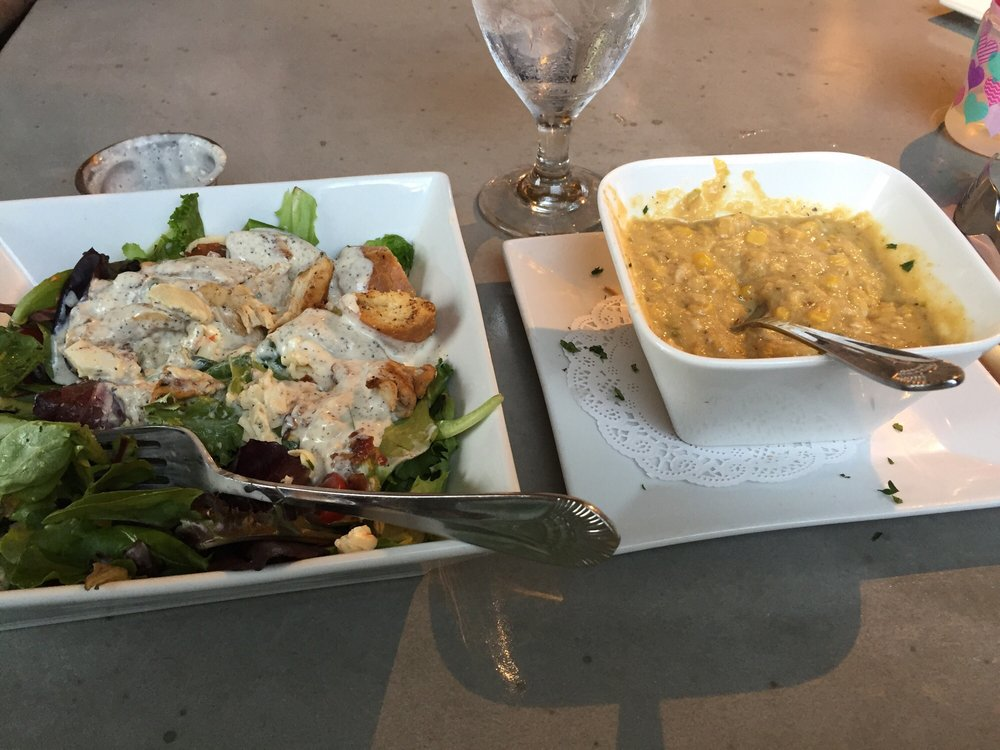 grilled chicken salad and crab and corn bisque yelp. Black Bedroom Furniture Sets. Home Design Ideas
