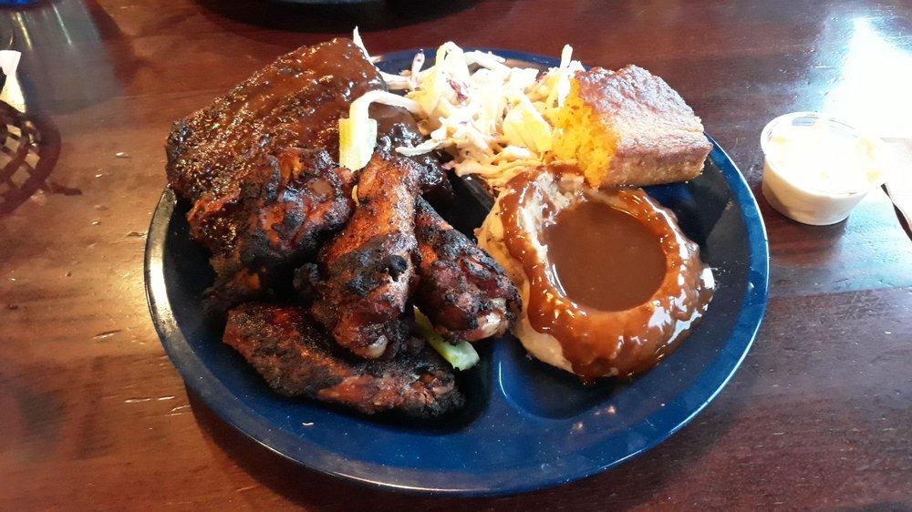 Food from Dinosaur Bar-B-Que