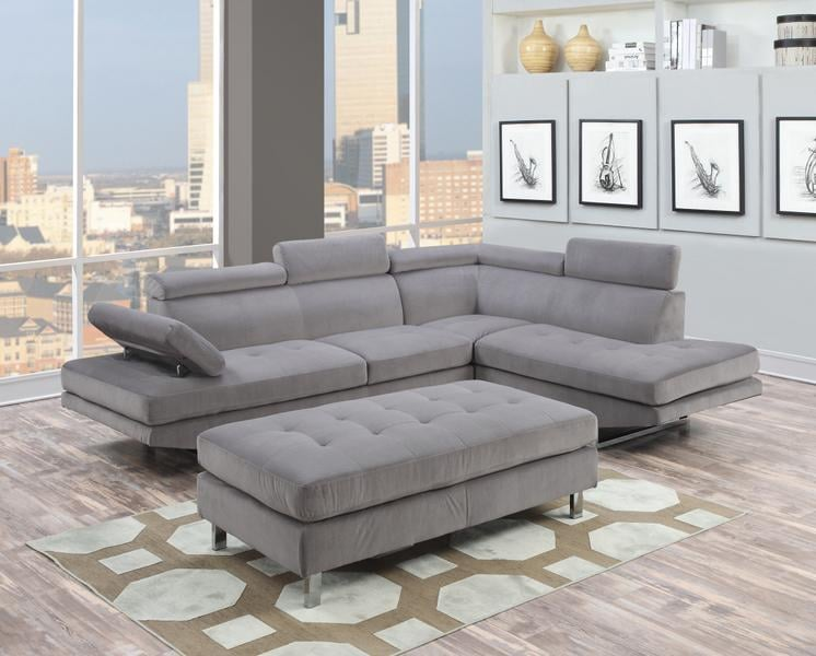 Ibiza Gray Bella Sectional Sofa And Ottoman Set 699 Yelp