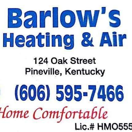 Barlow's Heating & Air: 124 Oak St, Pineville, KY