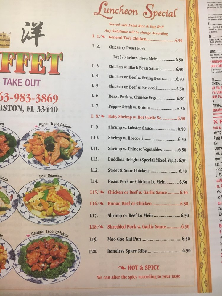 China Buffet: 113 S Deane Duff Ave, Clewiston, FL