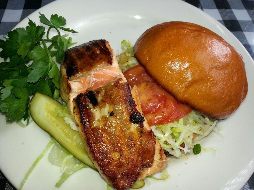 Bland Blackened Salmon Sandwich - Yelp