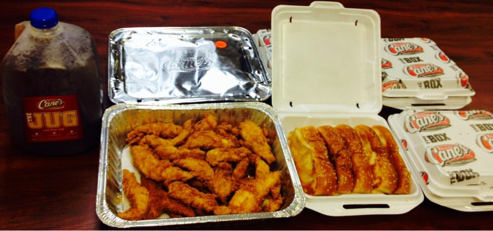 Hard Hat: 50 chicken fingers, 20 Texas toasts, Cane's sauce