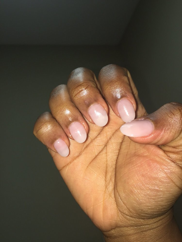 I wanted a natural nail look; this is Acrylic coated with colour 72 ...